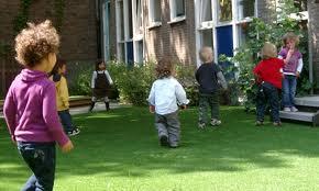 小学校で芝植え